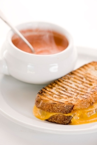 grilled cheese with homemade tomato soup